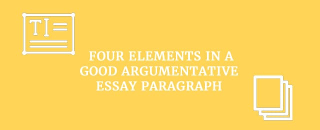 four elements of an essay Essay introductions write an introduction that interests the reader and effectively outlines your arguments every essay or assignment you write must begin with an introduction.