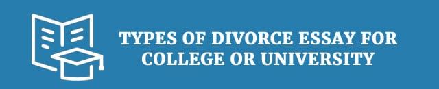 Divorce college essay