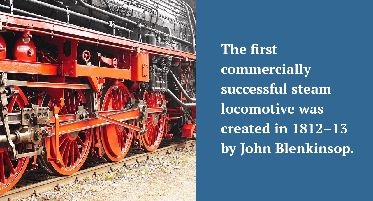 First commercially successful steam locomotive