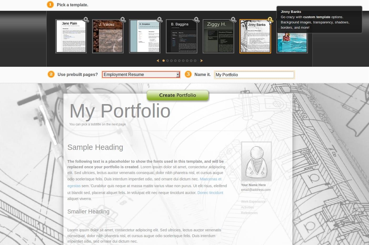 web review myfoliotek com portfolio templates foliotek com