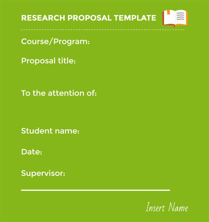 Research Proposal Example and Sample