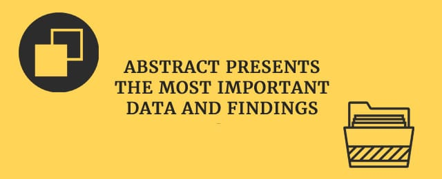 Abstract presents the most important data and findings