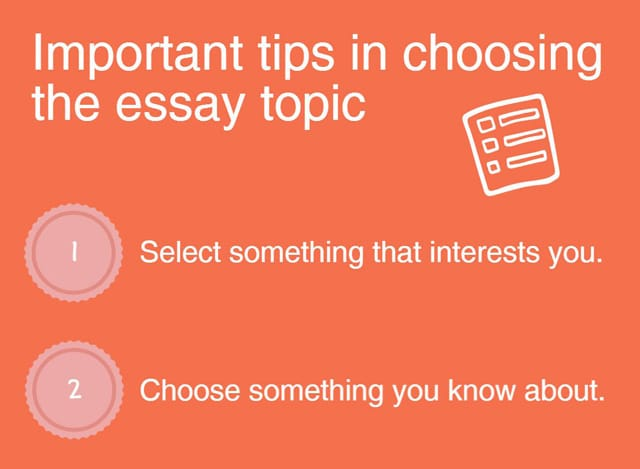 Help me choose an essay topic?