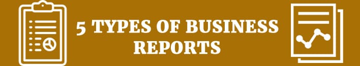 5 types of business reports