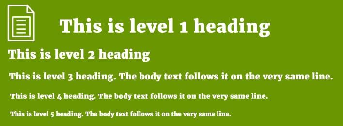 level heading citation