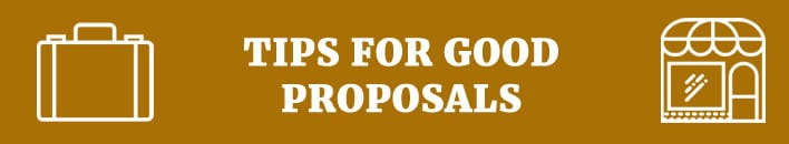 tips for good proposals