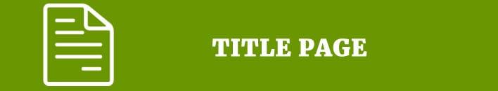titile page citation
