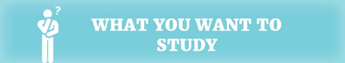 what you want to study