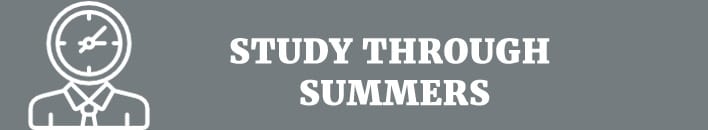 Study through summers