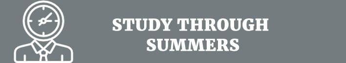 Study through summers