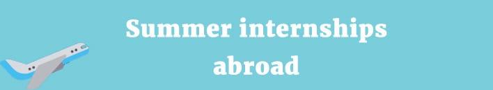 Summer internships abroad
