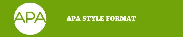 apa style format