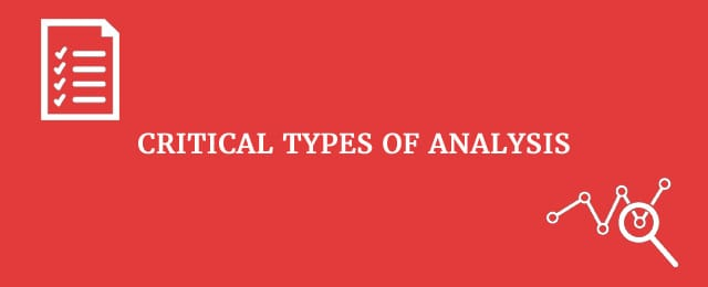 types of critical analysis essay The gre general test analytical writing measure tests your critical thinking and   it is also useful to review the scoring guides, sample topics, scored sample  essay  the task elicited the kinds of complex thinking and persuasive writing  that.
