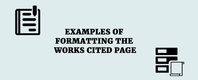 formatting a works cited page