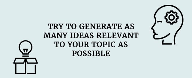 generate as many ideas as possible