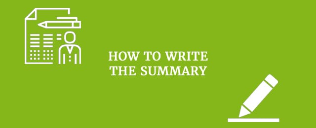 how to write the summary