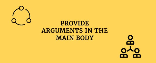provide arguments into the body