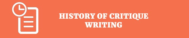 the history of critique writing