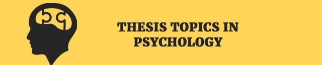 Dissertation topics in psychology