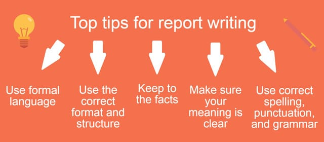 report writing tips Report writing: formal there are many different types of reports this information is a basic outline only before you attempt to write a report, you should check the particular requirements for the subject.
