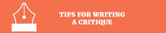 tips for writing a critique