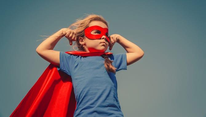 Child superhero portrait