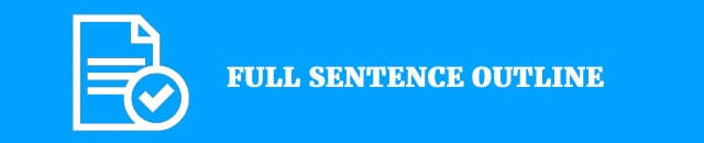 complete sentence outline essay