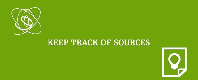 keep track of sources
