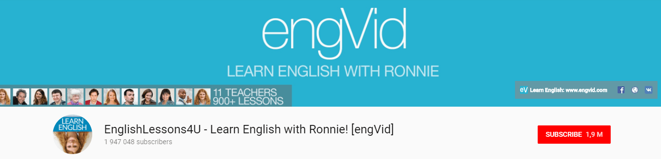 EngVid english lessons youtube channel