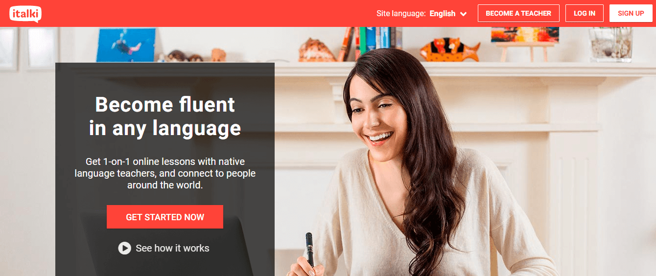 Italki ESL website.