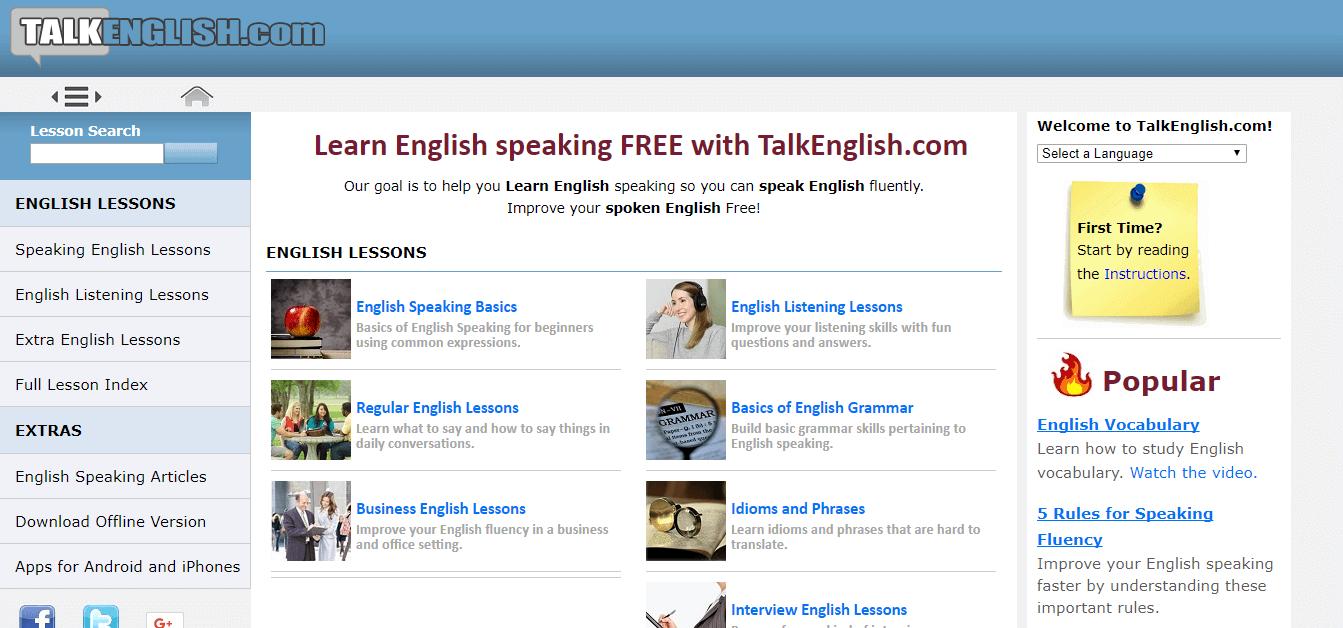 TalkEnglish.com - ESL lessons website