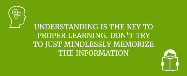 Understand what you're trying to learn