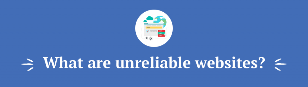 Unreliable websites title
