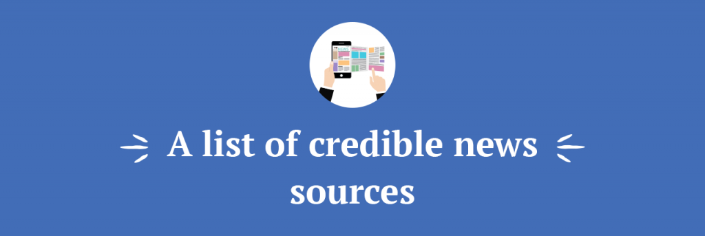 A list of credible news sources title
