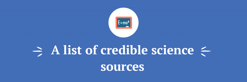 A list of credible science sources title