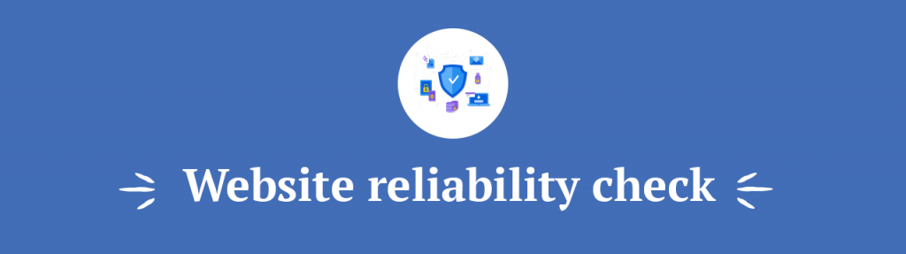 Website reliability check title