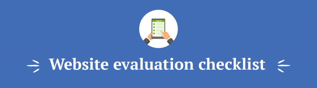 Website evaluation checklist title