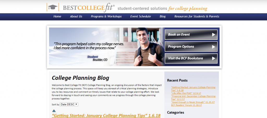 best college fit blog