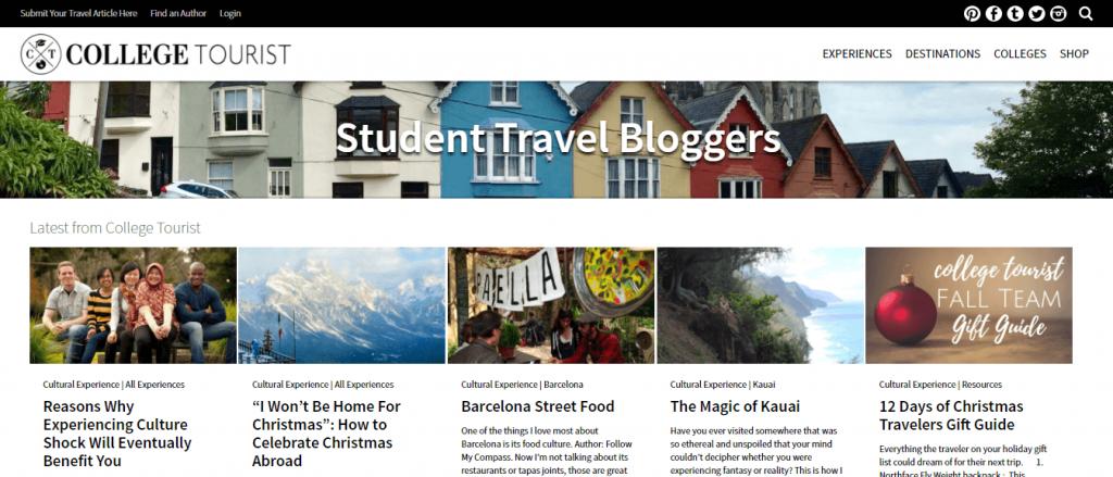 college tourist blog