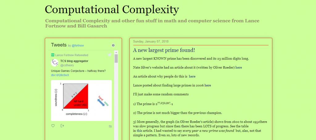 computational complexity blog