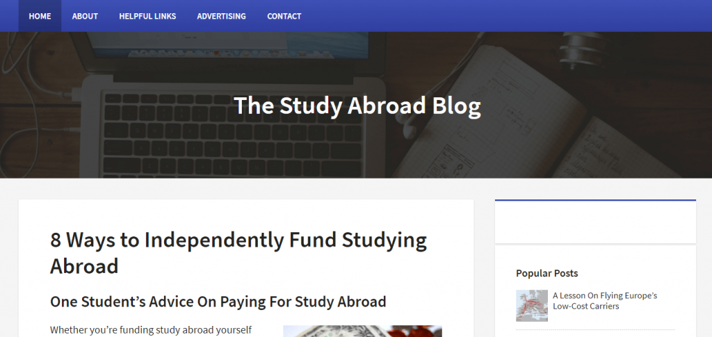 the study abroad blog