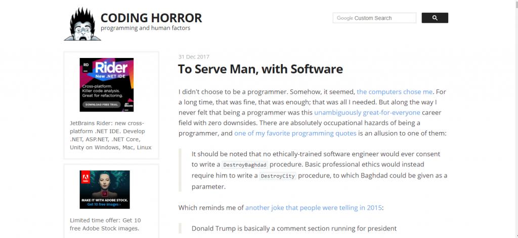 coding horror blog