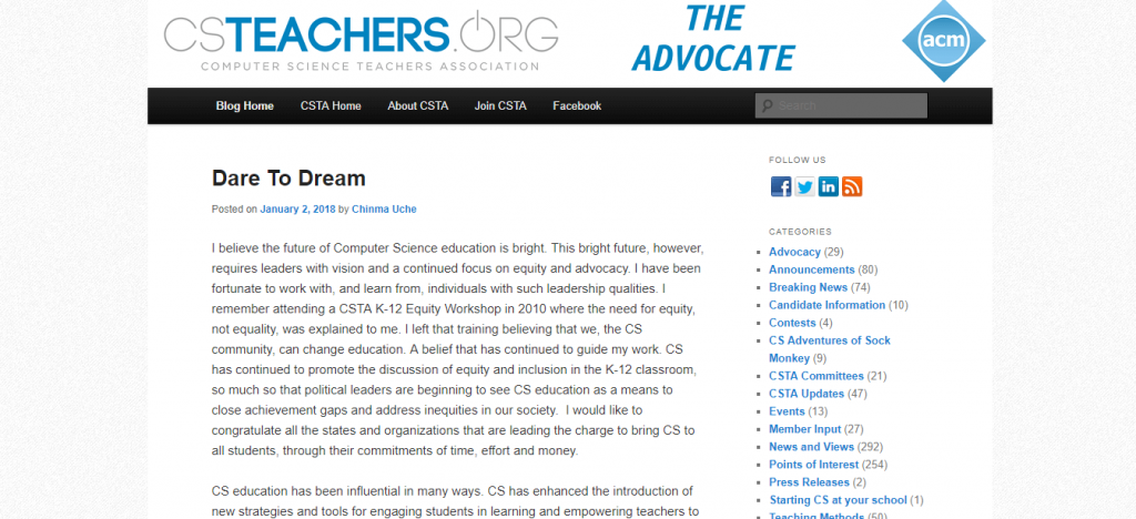 computer science teachers association