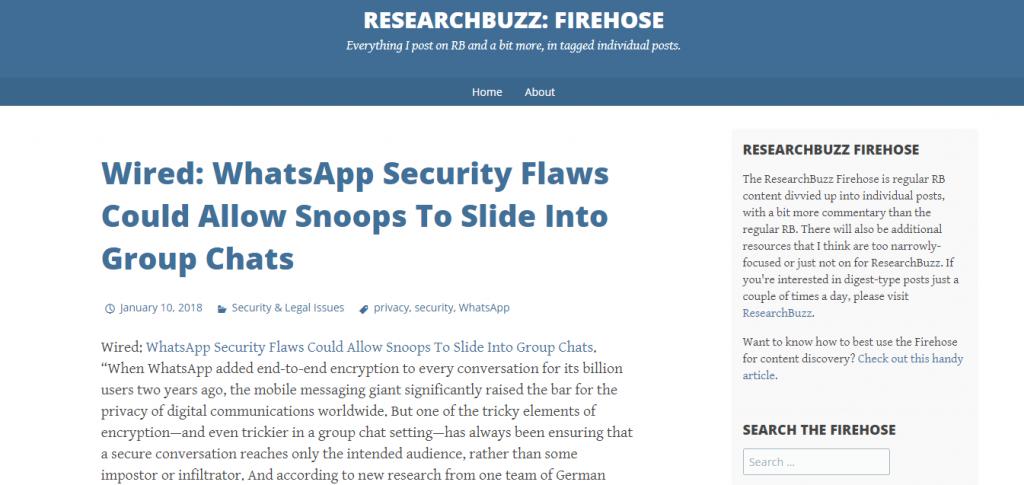 research buzz firehouse website