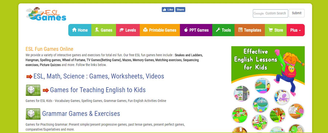 ESL games world website